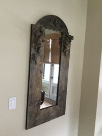 Antique cherub mirror $300