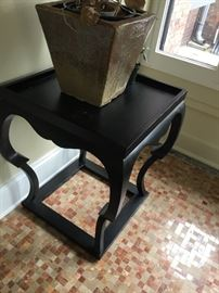 Black corner table $300
