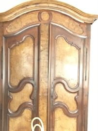 Gorgeous antique armoire 90 inches high, 50 inches wide, 21 inches deep.  $3900 or best offer