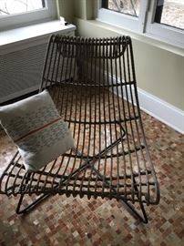 Rattan club chair $225