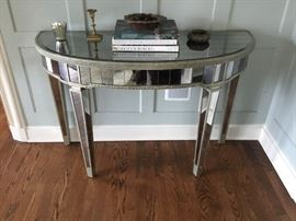 Mirrored entrance table $325