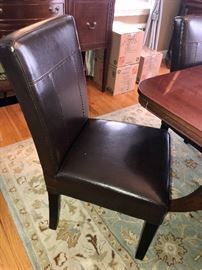Leather Parsons Dining Chairs