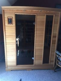 Infrared Sauna - Red light as well as other color spectrum.