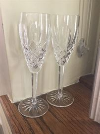 ARAGLIN WATERFORD CHAMPAGNE FLUTES
