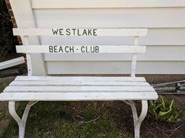 Westlake Beach club park bench