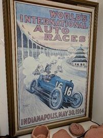 Indianapolis 500 Vintage Print