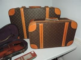 Authentic LOUIS VUITTON Luggage - 2 pcs. available - smaller bag shows wear...larger bag in GREAT shape!