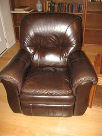 Two Matching Leather La-Z-Boy Rocker Recliners...