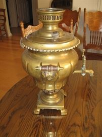 Antique Bronze Fluted Samovar, we think from Turkey...