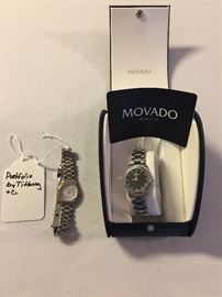 PORTFOLIO LADIES WATCH BY TIFFANEY & CO. MOVADO LADIES WATCH