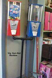 Vtg. Gumball Machine