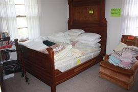 Victorian Era Walnut ~ Rococo Revival style full bed