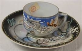 Dragonware Tea Cup & Saucer - Made in Japan