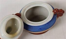 Japanese Trimont Ware Satsuma Moriage Censer, Immo ...