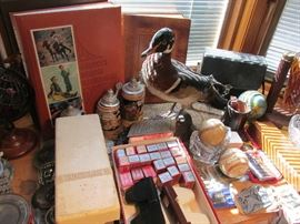Many vintage collectibles