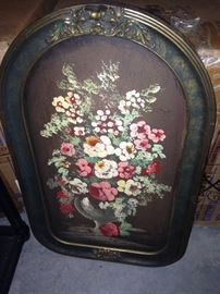 Love this tole painted framed pictures of classic tole roses.