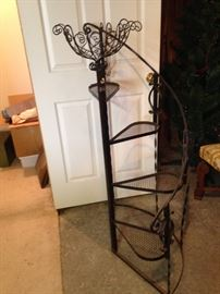 Iron Plant staircase plantstand.