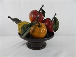 Signed Cold Painted Bronze Fruit bowl