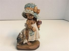 A 2nd Anri Real Wood Carving Figurine