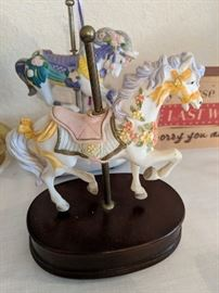 Ferris Wheel Horse music box