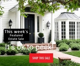 estate sale take a peak