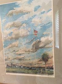 Three James R Turner watercolors
