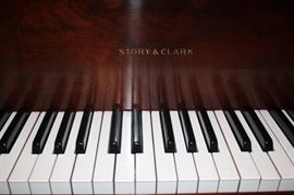 Beautiful Baby Grand Piano by Story & Clark with French Legs
