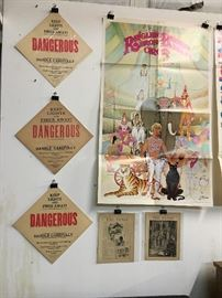 Railroad Signs, Ringling Bros. Poster, 1880's 'The Pansy' Magazine