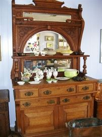 Massive Victorian mirrored sideboard - GORGEOUS.
