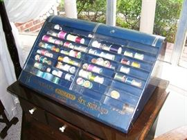 J&P Coats Vintage Thread cabinet - great advertising piece!