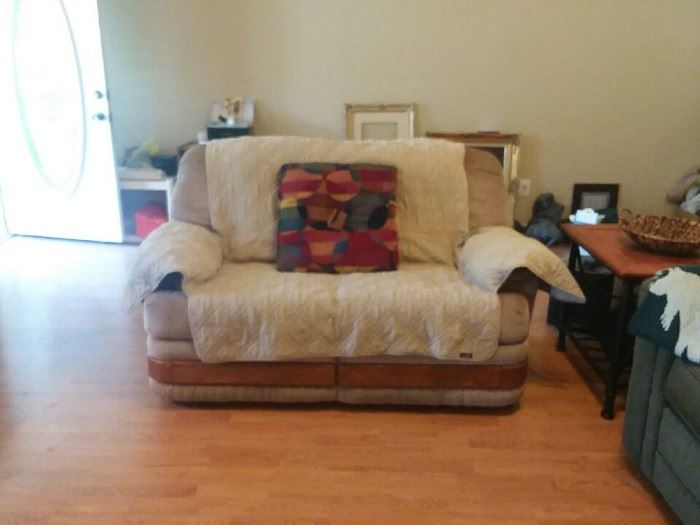 This is a double recliner, needs TLC
