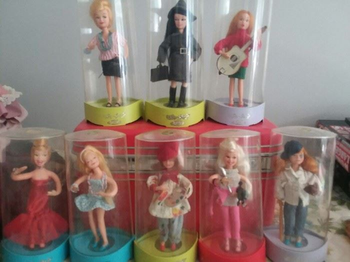 Collection of vintage Topper Go Go's dolls