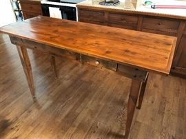 Pine Island Table with Two Drawers