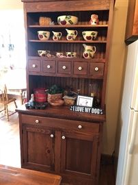 Pine Cupboard with Watts Ware