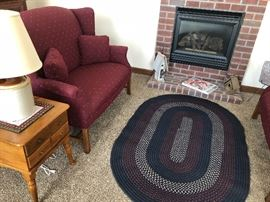 Braided Rug with Love Seat