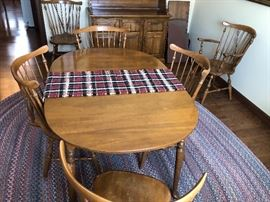 Ethan Allen Maple Table and Six Chairs