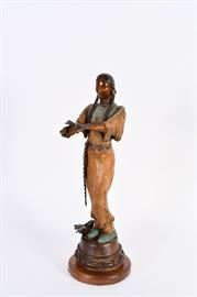 Lot #5 Tracy Beeler Bronze Sculpture with a Starting Bid of $500