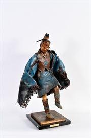 Lot #8 Joe Oreland Sr Bronze Native American Sculpture with a Starting Bid of $2,000