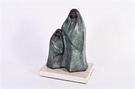 "Lot #9 Allan Houser Bronze Sculpture ""Gathering Clouds"" with a Starting Bid of $1,500"