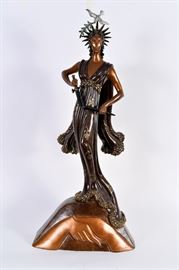 Lot #11 Erte Bronze Sculpture with a Starting Bid of $1,000