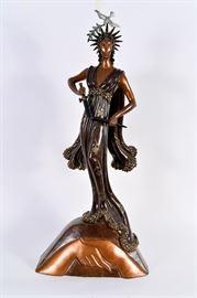 Lot #11 Erte Bronze Sculpture with a Starting Bid of $1,000