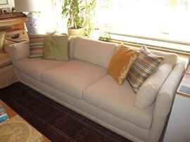 2 matching low sofas
