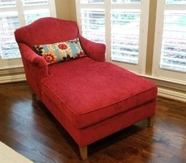 BEAUTIFUL (Like new!) Red Chaise Lounge
