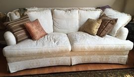 "stunning  custom white sofa pristine 84"" long, 48"" deep and 36""high"