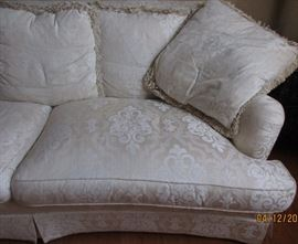 white formal sofa