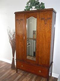 Antique English Arts & Crafts wardrobe