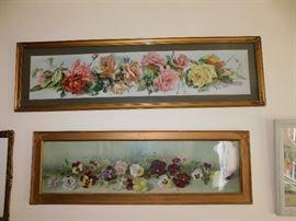framed floral/botanical artwork