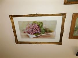 framed botanical artwork