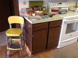 Vintage fold out kithchen step stool Kitchen items