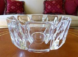 "Orrefors ""Corona"" lead crystal bowl"